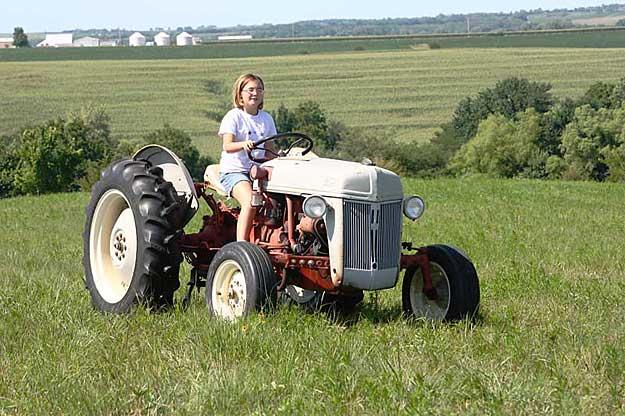 Jasmine working the field on Galen's 8N