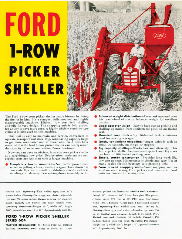 Ford One-Row Picker Sheller - AD
